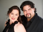 """Soprano Meredith Mecum and baritone Benjamin Bloomfield who sang the roles of Clara and Robert Schumann in the new opera, """"Clara,"""" by Victoria Bond and Barbara Zinn Krieger (Photo credit: Taylor Hooper)"""