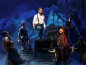 """Matthew Morrison (center) and Kelsey Grammer (Captain Hook, front right) with the ensemble of """"Finding Neverland"""" (Photo credit: Carol Rosegg)"""