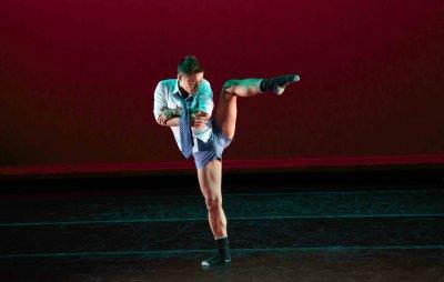 """Roberto Villanueva in a scene from """"Air"""" (Photo credit: Eric Bandiero)"""