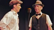 """Alexander Reed and Nate Steinwachs in a scene from """"Radio Mystery 1949"""" (Photo credit: Daniel Hicks)"""