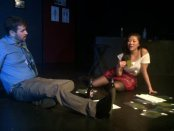 """Joshua Schwartz and Elisabeth Ng in a scene from Rebecca Gilman's """"Blue Surge"""" (Miah Gonzales)"""