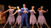 "Sarah Claire Smith, Katie Mcbane Harvey, Nicholas Dromard, Maria Briggs and Desiree Devar in the Gershwins' ""Heaven on Earth"" number in ""Oh, Kay!"" (Photo credit: Michael Portantiere)"