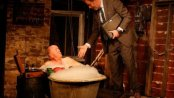 "Peter Maloney and Rufus Collins and in a scene from ""The Quare Land"" (Photo credit: Carol Rosegg)"