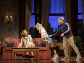 """Robert Sella, Annaleigh Ashford and Matthew Broderick in a scene from """"Sylvia""""(Photo credit: Joan Marcus)"""