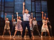 """Telly Leung and the cast in a scene from """"Allegiance"""" (Photo credit: Matthew Murphy)"""