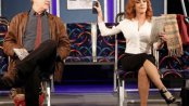 """Kip Gilman and Andrea McArdle in a scene from the romantic comedy """"2 Across"""" (Photo credit: Carol Rosegg)"""