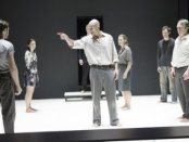 """Mark Strong and the company of """"A View from the Bridge""""(Photo credit: Jan Versweyveld)"""