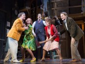 """Jeremy Shamos, Kate Jennings Grant, David Furr, Andrea Martin and Campbell Scott in a scene from """"Noises Off"""" (Photo credit: Joan Marcus)"""