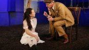 """Kristen Sieh as Emily and Martin Moran as Thornton Wilder in a scene from """"O, Earth"""" (Photo credit: Julieta Cervantes)"""