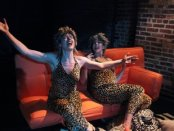 "Kim Katzberg and Nora Woolley in a scene from ""Strays"" (Photo credit: Jody Christopherson)"