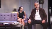 """Connie Saltzman and Anthony Ruiz in a scene from """"Implications of Cohabitation"""" (Photo credit: Michael Blase)"""