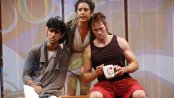 """Sathya Sridharan, Nadine Malouf and Patrick Cummings in a scene from A. Rey Pamatmat's """"This Is How It Ends"""" (Photo credit: Carol Rosegg)"""