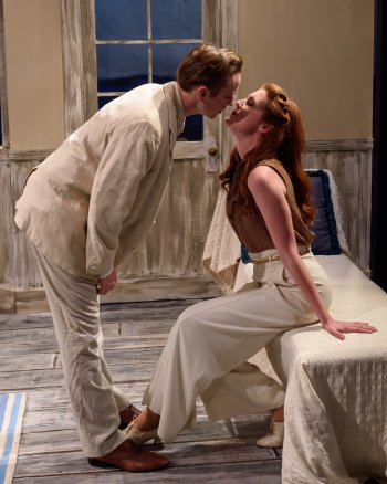 """Andrew Bryce and Mary McNulty in a scene from S. N. Behrman's """"End of Summer"""" (Photo credit: Stephen Leong)"""