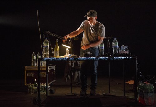 "Simon McBurney in a scene from ""The Encounter"" (Photo credit: Joan Marcus)"
