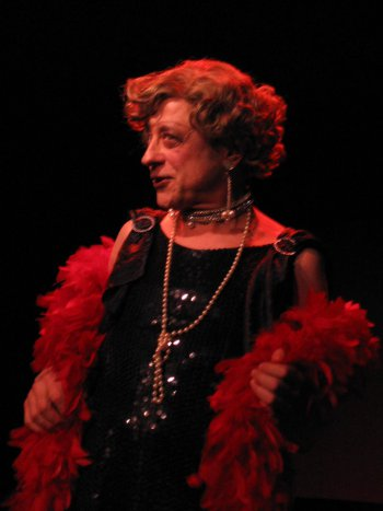 """Jeremy Lawrence in """"Lavender Songs: A Queer Cabaret in Weimar Berlin""""(Photo credit: Adriano)"""
