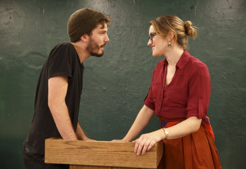 "Ben Lorenz and Olivia Jampol in a scene from ""Ajax,"" part of the Flea Theater's production of A.R. Gurney's ""Two Class Acts"" (Photo credit: Joan Marcus)"