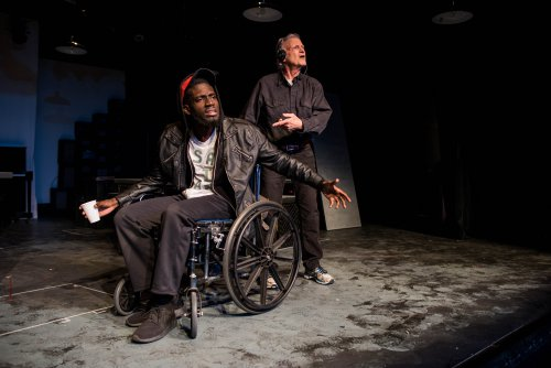 "Steven J. Michel and Michael Twaine in a scene from ""Roughly Speaking"" (Photo credit: Den Sweeney Photography)"