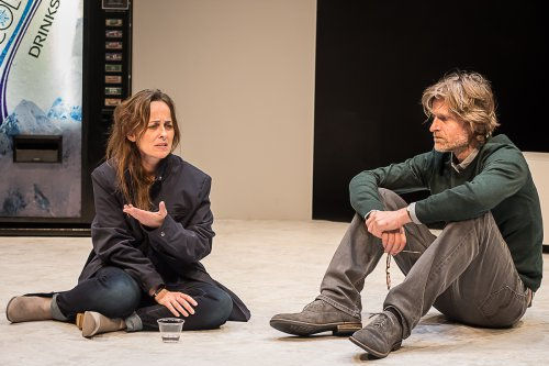 """Birgit Huppuch and Michael Laurence in a scene from """"Poison"""" (Photo credit: Lou Montesano)"""