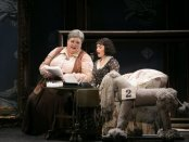 """Stephanie Blythe and Heidi Stober in a scene from MasterVoices' production of """"27"""" (Photo credit: Erin Baiano)"""