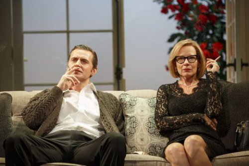 "Richard Armitage and Amy Ryan in a scene from Mike Bartlett's ""Love, Love, Love"" (Photo credit: Joan Marcus)"