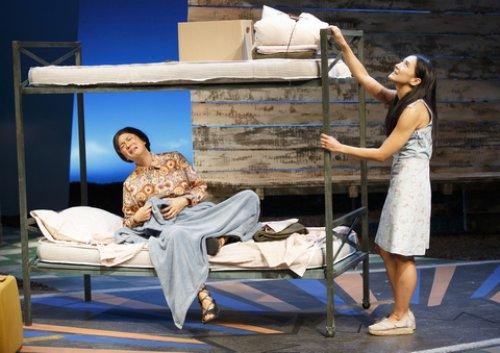 "Samantha Quan and Jennifer Ikeda in a scene from ""Vietgone"" (Photo credit: Carol Rosegg)"