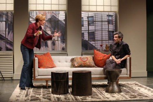 """Francesca Faridany and Michael Crane in a scene from """"This Day Forward"""" (Photo credit: Carol Rosegg)"""