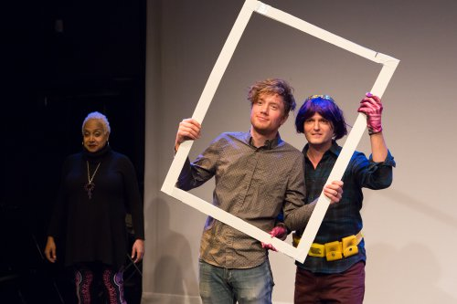 """Nicole Hill, Connor Sampson and Dan McCoy in a scene from """"The Great American Drama"""" (Photo credit: Hunter Canning)"""