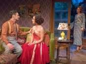 """Max von Essen, Mikaela Izquierdo and Elisabeth Gray in a scene from the Mint Theater's premiere of """"Yours Unfaithfully"""" (Photo credit: Richard Termine)"""
