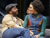 """André Holland and Carra Patterson in a scene from August Wilson's """"Jitney"""" (Photo credit: Joan Marcus)"""