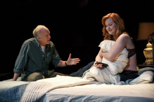 "Reed Birney and Heidi Armbruster in a scene from ""Man from Nebraska"" (Photo credit: Joan Marcus)"