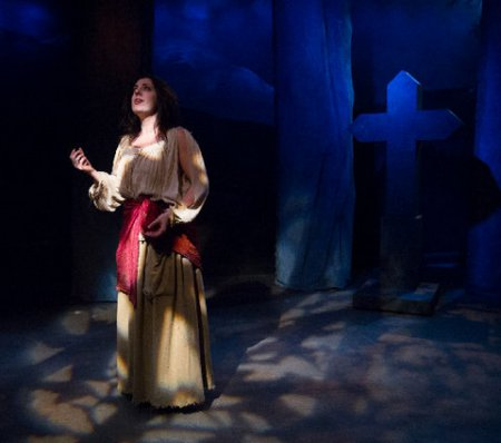 """Regina Gibson in the title role of """"Leah, the Forsaken"""" (Photo credit: Alex Trimetiere)"""