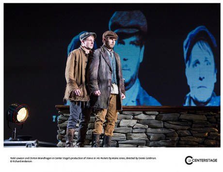 Todd Lawson (L) and Clinton Brandhagen (R) in Centerstage's Stones in his Pockets. Photo by Richard Anderson.