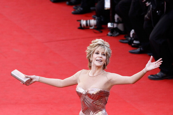 """CANNES, FRANCE - MAY 16: Actress Jane Fonda attends opening ceremony and """"Moonrise Kingdom"""" premiere during the 65th Annual Cannes Film Festival at Palais des Festivals on May 16, 2012 in Cannes, France. (Photo by Andreas Rentz/Getty Images)"""