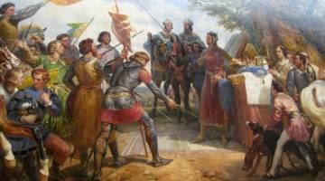 Bataille de Bouvines. Détail d'une peinture d'Horace Vernet (1789-1863).