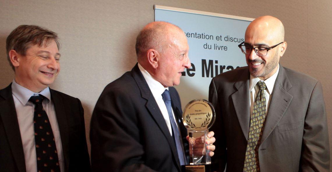 Le sénateur François Grosdidier, Charles Saint-Prot et le Dr Jamal Sanad al Suwaidi