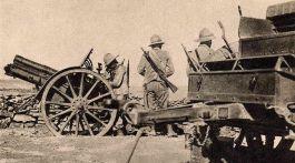 Artilleurs italiens en Ethiopie en 1936.