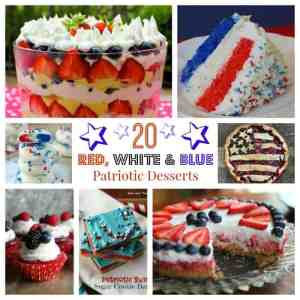 20 Red, White & Blue Patriotic Desserts