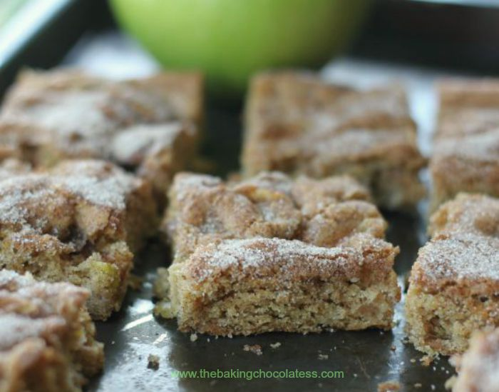 Apple Cinnamon Snickerdoodle Cookie Bars – The Baking ...