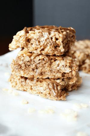 Nutella rice krispie treats | The Baking Fairy