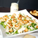garlic shrimp caesar salad | The Baking Fairy
