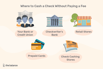 Where to Cash a Check Without Paying a Fee