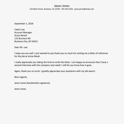 General Thank You Letter Samples and Writing Tips