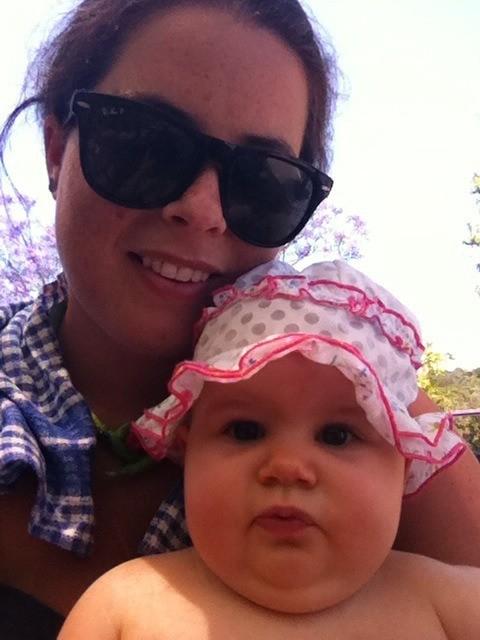 Amelia with Aunty Mel