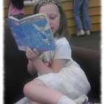 Day Riverside Library reading a book