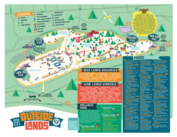 Outside Lands 2013 Map