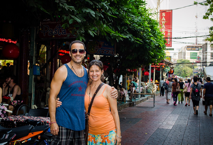 Our home away from home, Rambuttri Road, Bangkok, Thailand