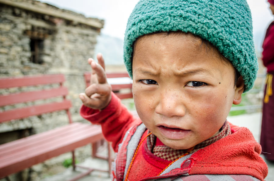 A young kid in Manang village, Nepal