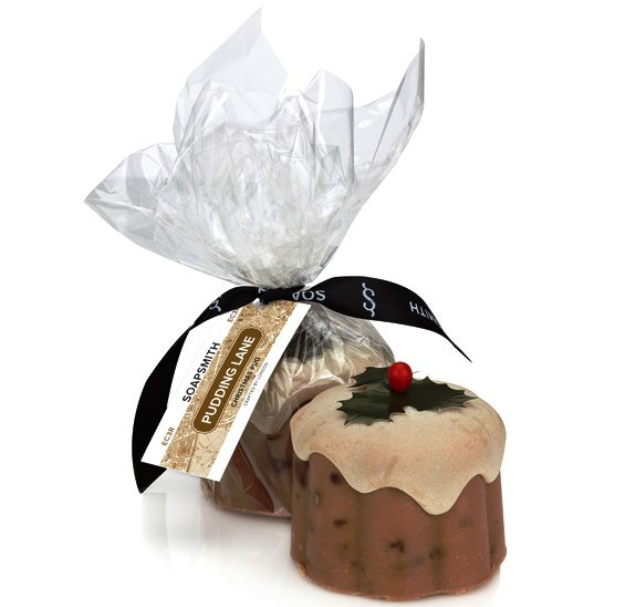 Pudding with packaging