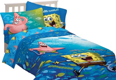 Sponge Bob Fish Swirl Sheet Set
