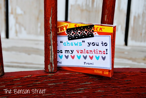 Chewing Gum Printable Valentine at The Benson Street5